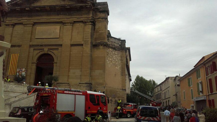 L'église d'Eyguières juste après l'incendie dimanche