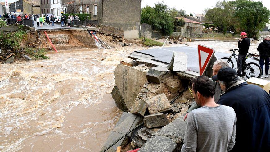 Les inondations dans l'Aude en octobre 2018.