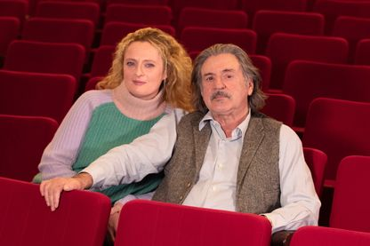 """Daniel et Aurore Auteuil pour """"Le malade imaginaire"""" dans le Théâtre de Paris, le 22 janvier 2019."""