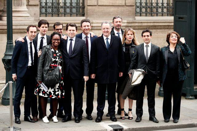 """La bande des """"Mormons"""", ici le jour de l'investiture d'Emmanuel Macron, a oeuvré à sa victoire à la présidentielle"""