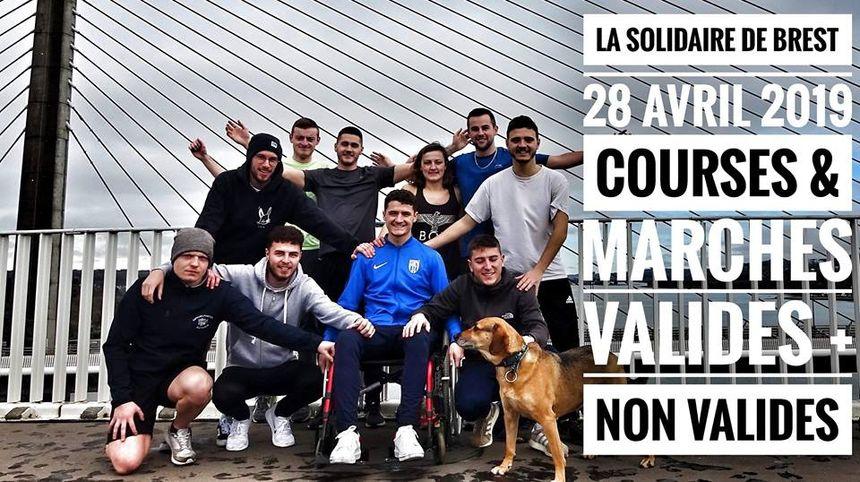 Marches et courses pour valides et personnes en situation de handicap le 28 avril à Brest