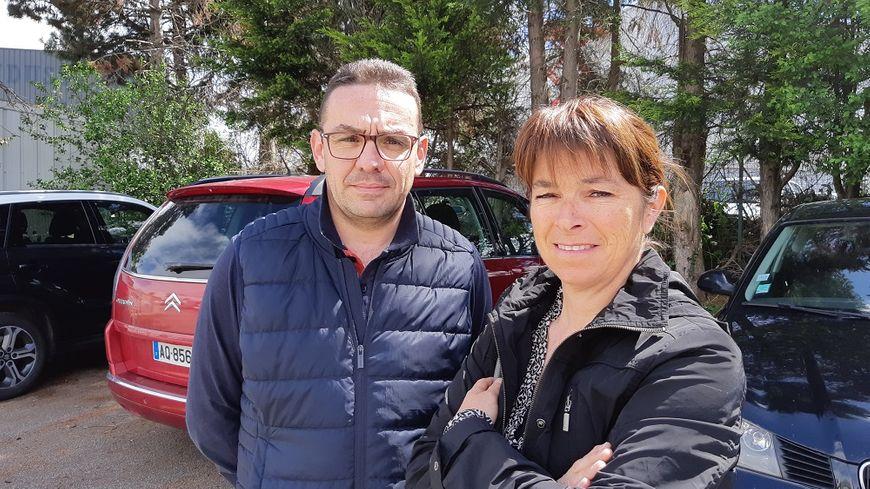 Alain et Christelle Saez, les parents de Maxime, l'une des victimes de l'explosion à Bas-en-Basset.