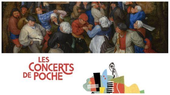 """Jan I Brueghel l'Ancien : """"Danse de noces"""" (détail), musée des Beaux-Arts de Bordeaux, © Mairie de Bordeaux, Lysianne Gauthier. Logo des Concerts de Poche"""