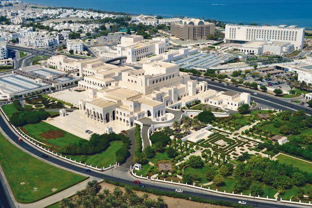 Vue générale du ROHM (Royal Opera House of Muscat) et du ROHMA (Royal House of Musical Art)