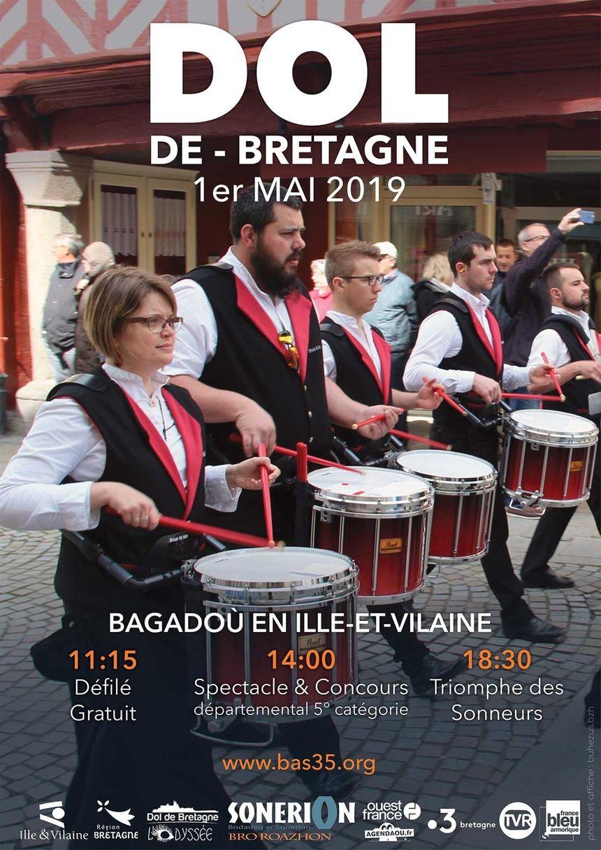 Sonerion Bro Roazhon présente la journée des Bagadou le mercredi 1er mai à Dol de Bretagne