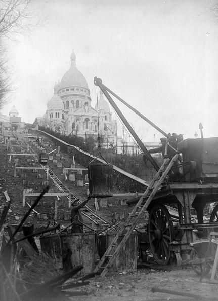Construction du funiculaire de Montmartre