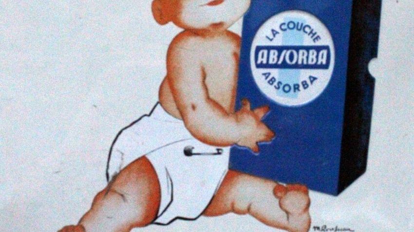 La première publicité pour les couches Absorba en 1949