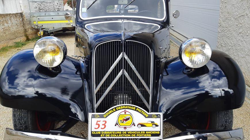 La Traction Avant de 1939 de Michel Audibert, collectionneur de véhicules d'époques dans la Vienne.