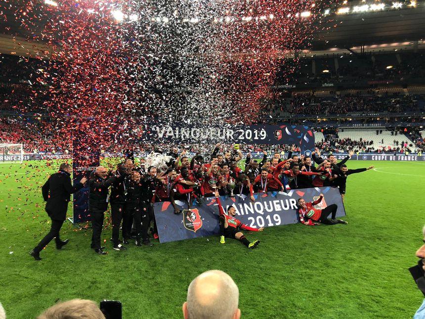 Le Stade Rennais  vainqueur de la coupe de France 2019