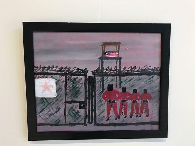 Un tableau  peint par un pensionnaire du centre Mohamed Ben Nayef, ancien détenu de Guantanamo
