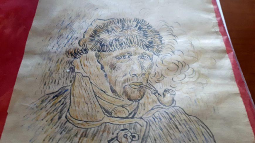 L'aquarelle est censée le dessin d'un autoportrait célèbre du peintre
