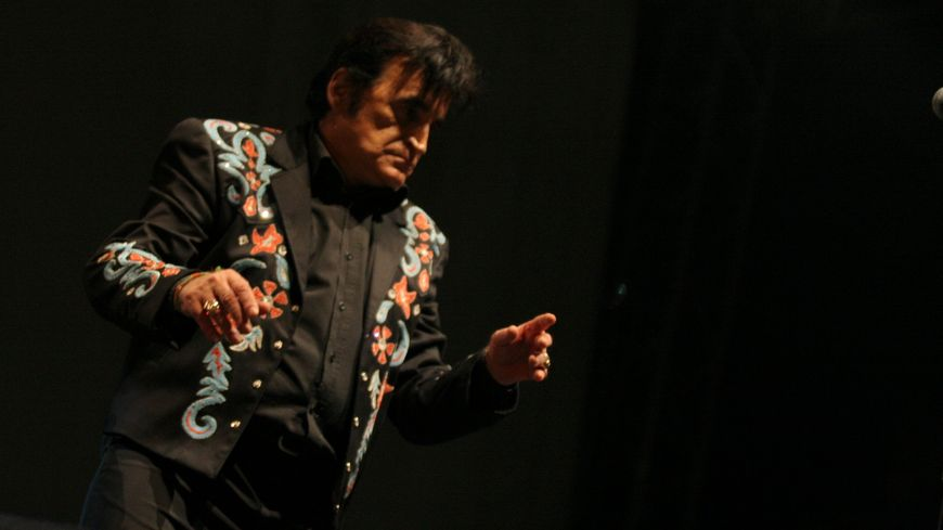 Dick Rivers lors du 15eme festival de country music de Mirande (Gers)