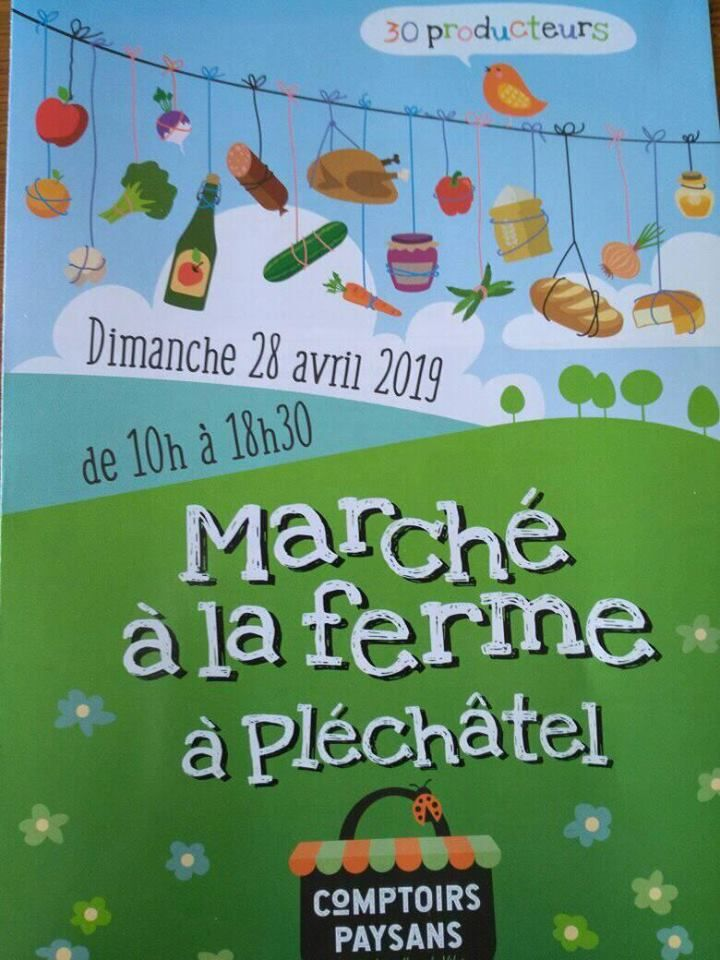 """Marché de printemps à la ferme du """"Pont Guisson"""" à Pléchatel"""