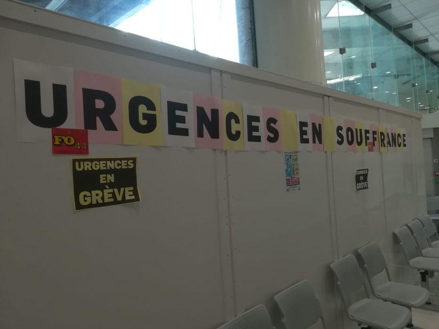 Plus de 40% du service des urgences de Nantes s'est mis en grève, ce mardi 30 avril.