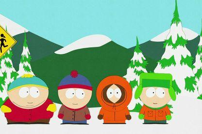 """Les quatre copains de """"South Park"""", la comédie inventée par Trey Parker et Matt Stone"""