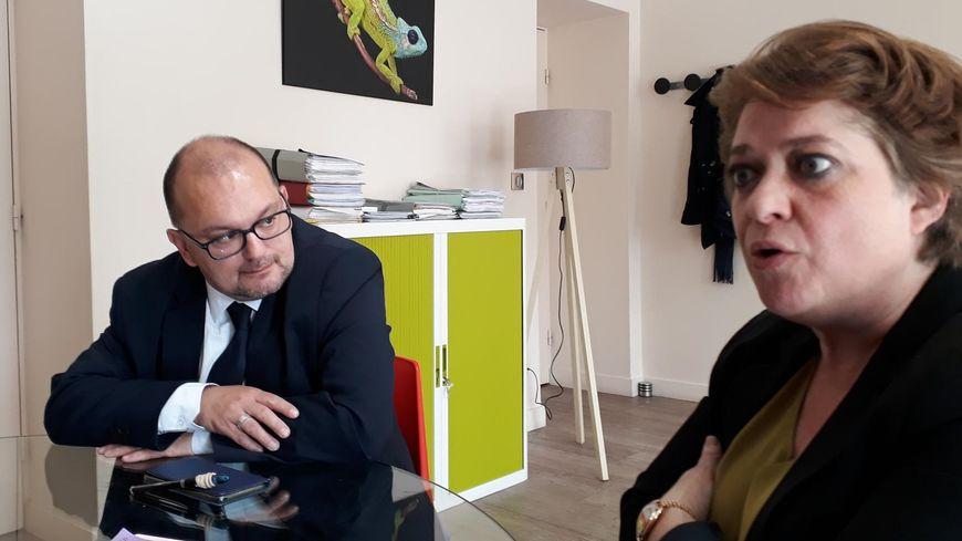 L'ancienne bâtonnière de la Drôme Me Anne-Valérie Pinet, assistée de son avocat Me Yvan Flaud