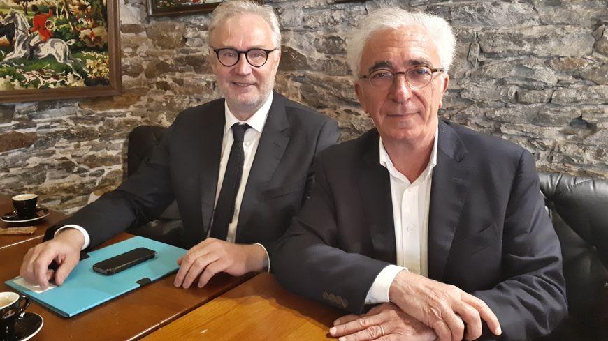 Christophe Priou (à gauche) et Marc Reneaume font partie des 109 élus qui ont signé le courrier adressé à la ministre de la santé.