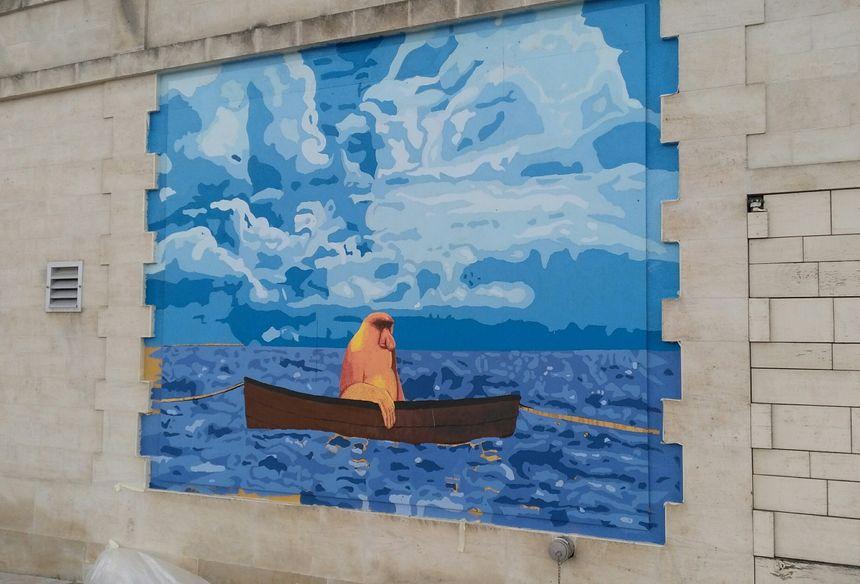 Les oeuvres de Romano et du collectif le Mouvement visibles sur les quais de l'Yonne à Auxerre