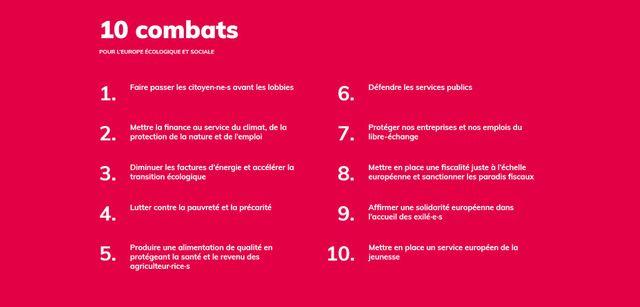 """Les """"combats"""" de la liste Parti socialiste-Place publique."""