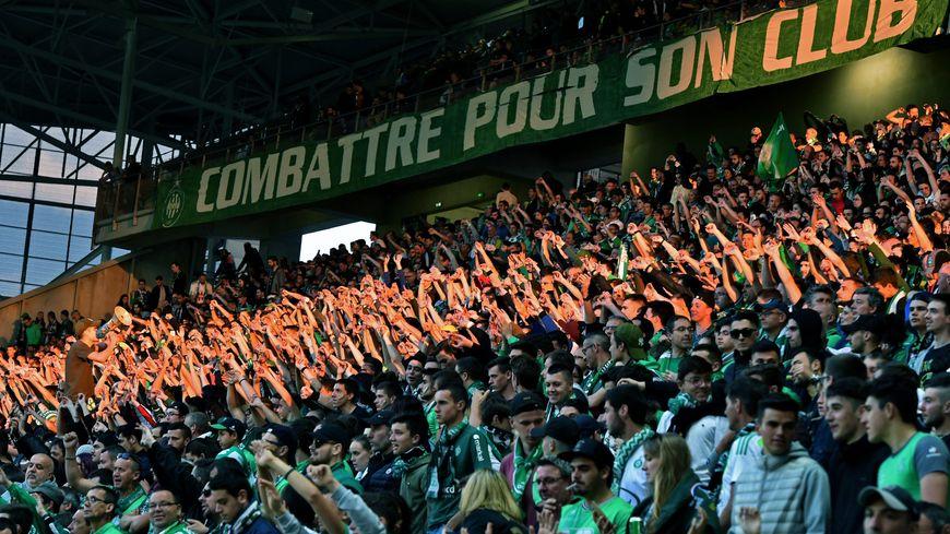 Le kop sud du stade Geoffroy Guichard.