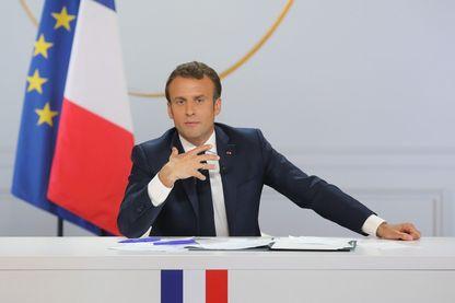 Emmanuel Macron durant sa conférence de presse du 25 avril 2019