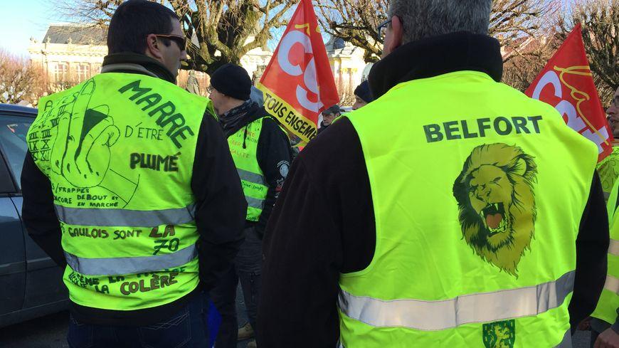 Manifestation CGT et Gilets Jaunes à Belfort le 5 février 2019.