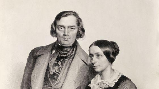 Robert et Clara Schumann opar le litographe Johann Hofelich