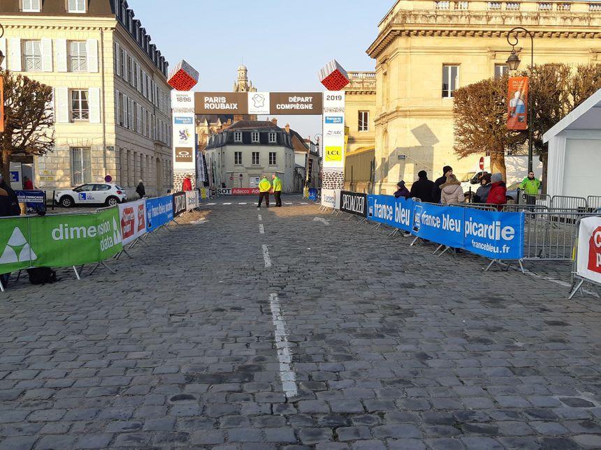 Avant le départ du Paris-Roubaix