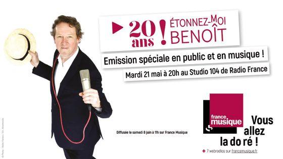 20 ans Etonnez-Moi Benoît !