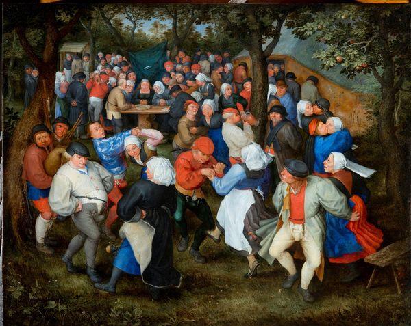 Jan I Brueghel l'Ancien, Danse de noces, ça 1600, huile sur cuivre, 40,5 x 50,5 cm, Bordeaux, musée des Beaux-Arts, INV.BX E 103