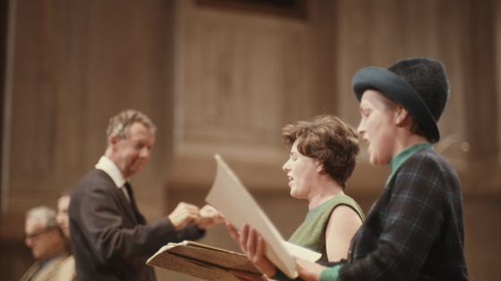de gauche à droite : Benjamin Britten, Heather Harper et Josephine Veasey - 1963