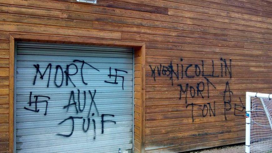 Les tags découverts après le weekend de Pâques à Roanne visaient directement la famille du maire Yves Nicolin.