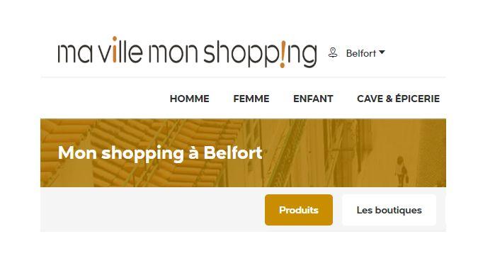 """Tous les commerçants de la ville de Belfort peuvent solliciter la ville pour avoir leur vitrine sur le site internet """"Mavillemonshopping.fr"""""""