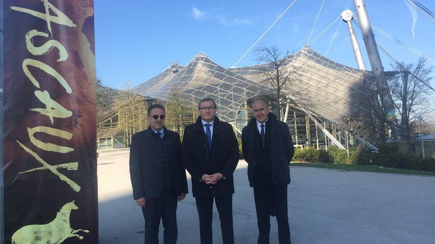 La délégation périgourdine à son arrivée à Münich au parc olympique
