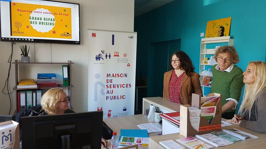 La maison des services au public du quartier Croix d'Argent à Montpellier (Hérault) est couplé avec le Centre social Adages- Espace Familles.