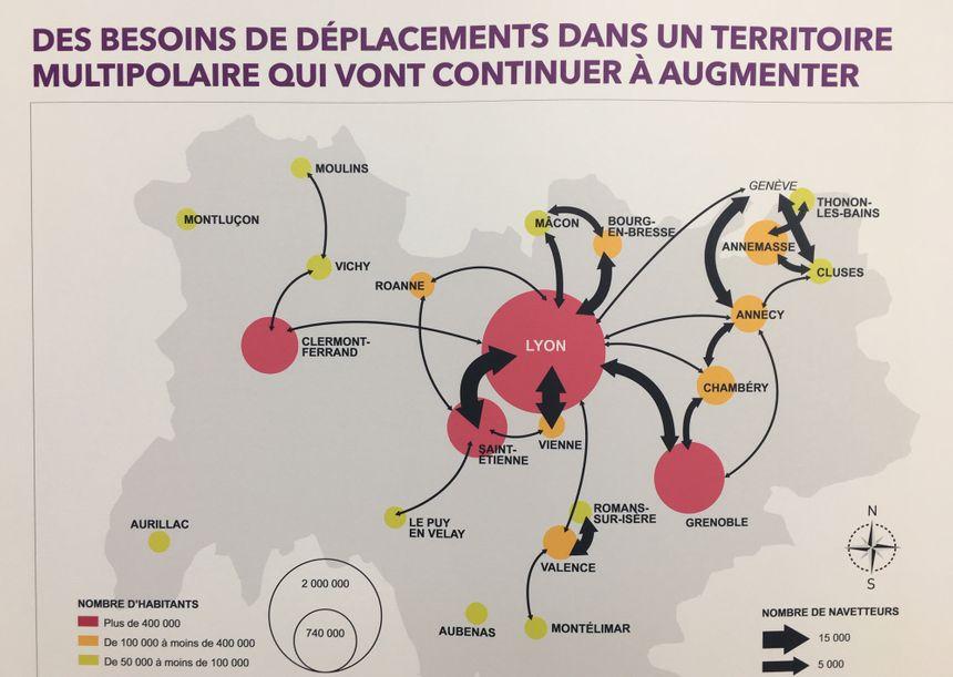 Un réseau régional très dépendant du nœud ferroviaire lyonnais
