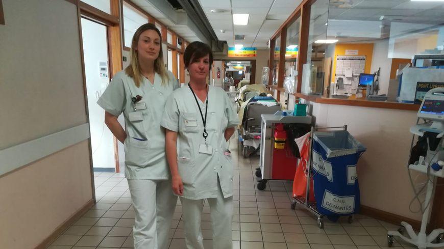 Elsa et Gaëlle sont infirmières aux urgences de Nantes.