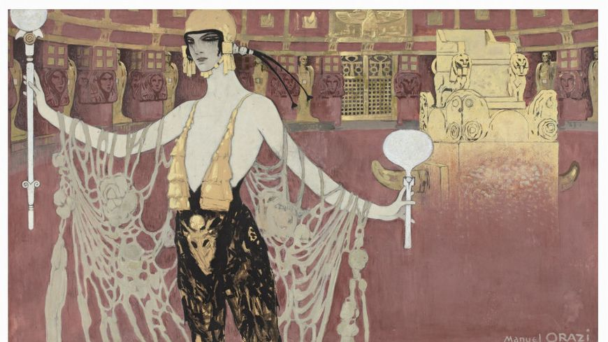 """L'affiche du le film """"l'Atlantide"""" de Jacques Feyder. Un film de 1921."""