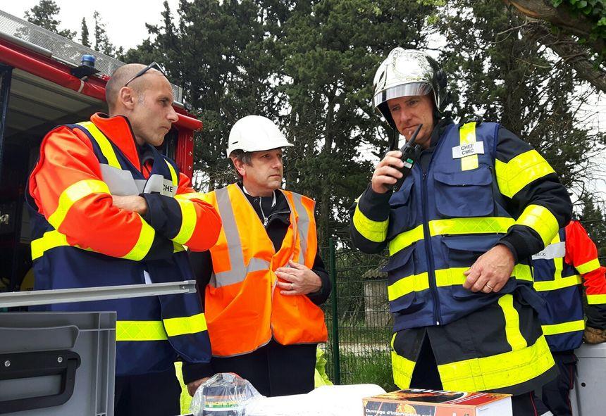 Le Maire de Sorgues Thierry Lagneau a suivi les opérations aux côtés des pompiers