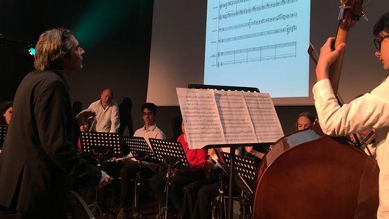 Masterclass du compositeur Alexandros Markeas à la Médiathèque Albert Camus d'Antibes. (Mars 2019)