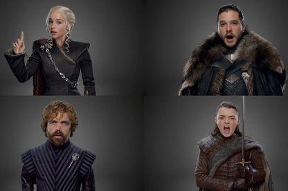 """Capture d'écran d'une vidéo promotionnelle avec le casting de """"Game of Thrones"""""""