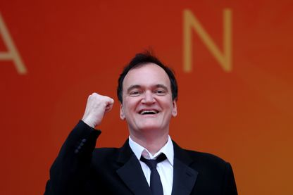 Quentin Tarantino le jour de la projection de son film à Cannes