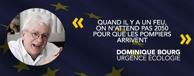 Dominique Bourg, tête de liste Urgence écologie.