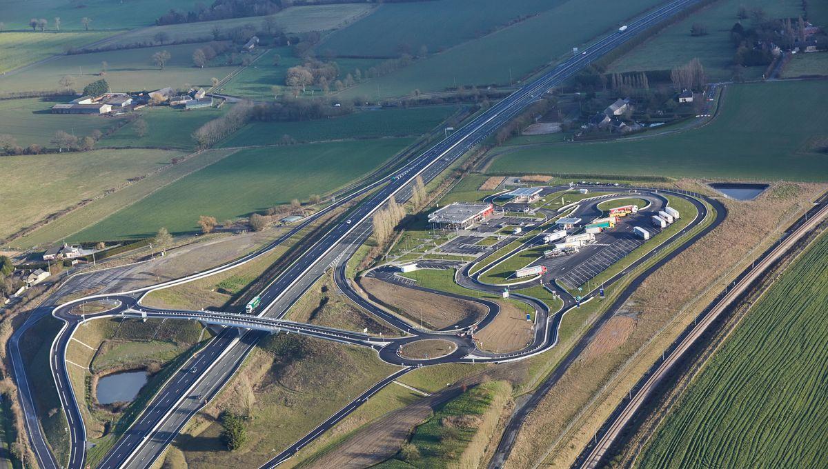 Un nouvel échangeur sur l'A81 va sortir de terre au niveau de l'aire de la Mayenne