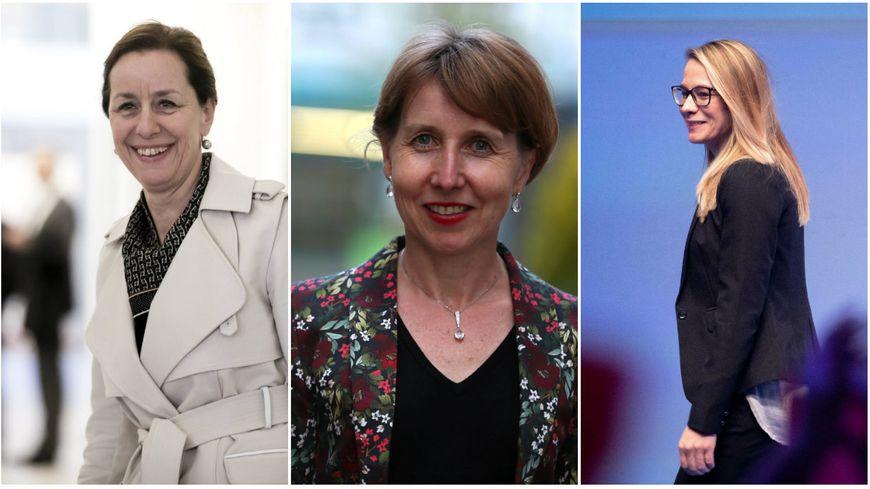 Fabienne Keller (liste LREM/Modem), Anne Sander (LR) et Virgine Joron (RN), élues au Parlement européen.