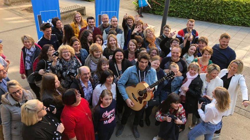 Lilian Renaud avec les auditeurs de France Bleu Besançon