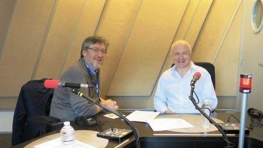 France Musique, studio 152... Arnaud Merlin, producteur & George Benjamin, compositeur, pianiste et chef d'orchestre