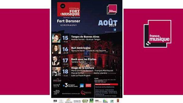 Festival Fort en Musique du 15 au 18 août 2019