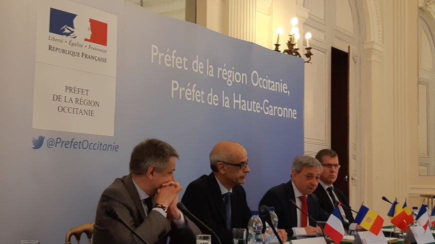 Le préfet de la région Occitanie a tenu une conférence de presse aux côtés du chef du gouvernement andorran.