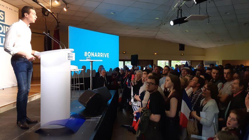 Le Rassemblement National a choisi la commune de Villeblevin dans l'Yonne, 1.850 habitants pour son avant-dernier meeting de campagne pour les Européennes